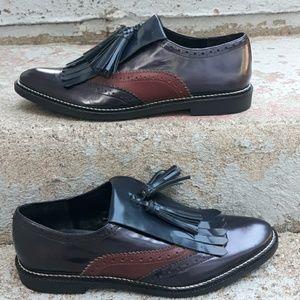 Asos fringe wing tip shoes with tassel  US size 10